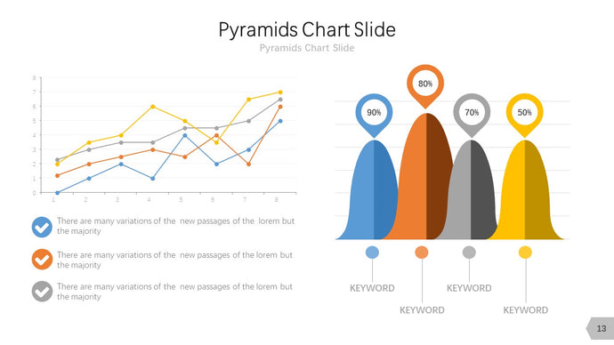 Pyramids & pie charts Diagram PowerPoint template