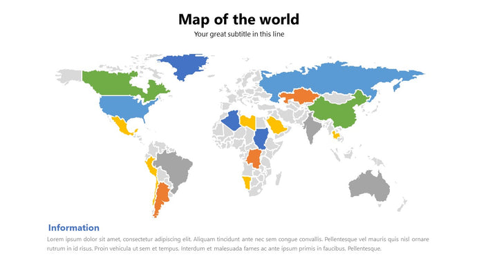 World vector Map PowerPoint - PowerPointEasy