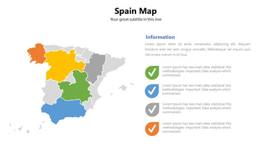 Spain vector Map PowerPoint - PowerPointEasy