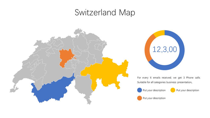 Switzerland vector Map - PowerPointEasy
