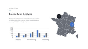 France vector map Powerpoint - PowerPointEasy