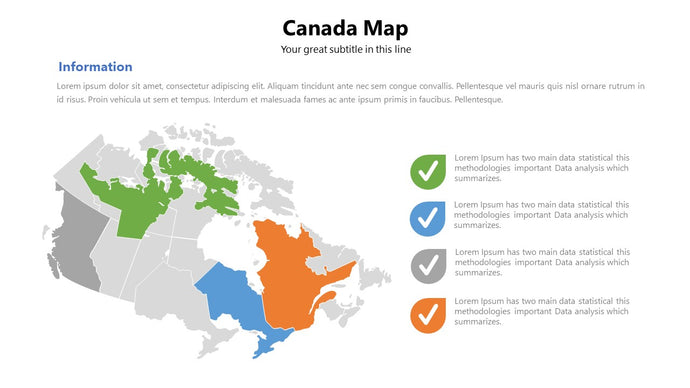 Canada vector map Powerpoint - PowerPointEasy