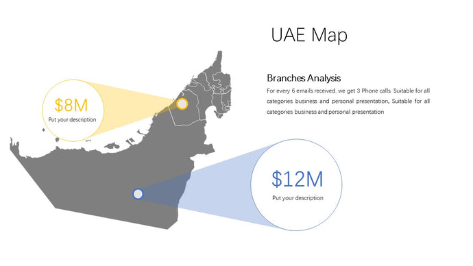 UAE (United Arab Emirates ) vector Map - PowerPointEasy