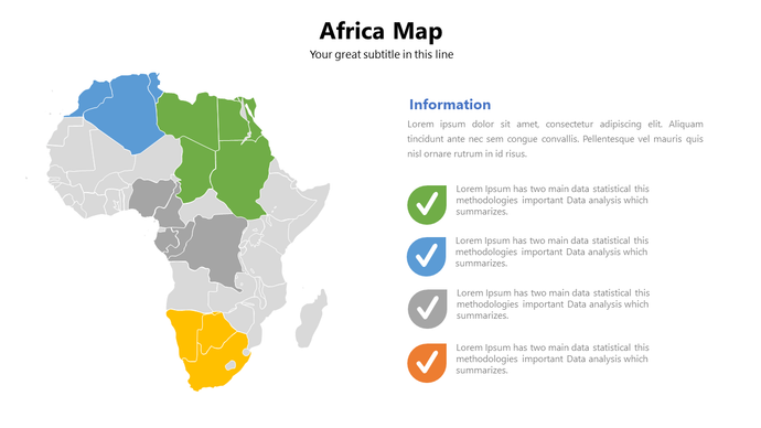Africa vector map Powerpoint Keynote and Google Slides - PowerPointEasy