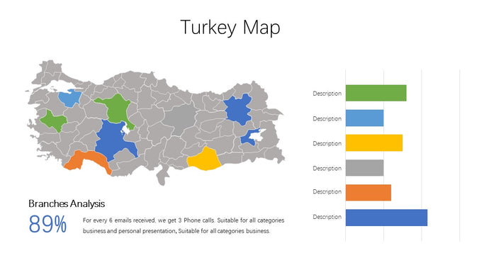 Turkey vector Map PowerPoint - PowerPointEasy
