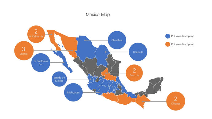 Mexico vector Map PowerPoint - PowerPointEasy