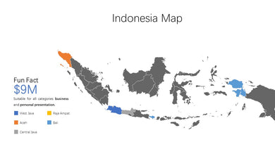 Indonesia vector Map Powerpoint - PowerPointEasy