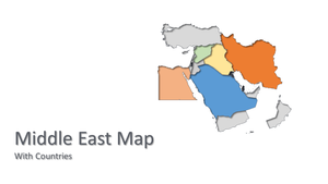 Middle East vector Map - PowerPointEasy