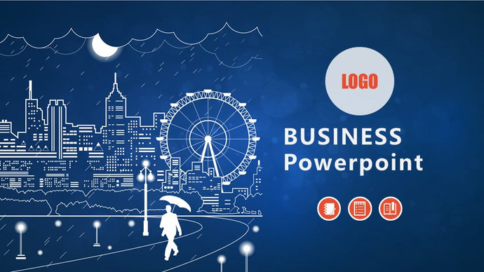Business Blue PowerPoint template