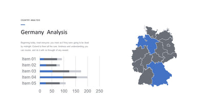 Germany vector map PowerPoint - PowerPointEasy