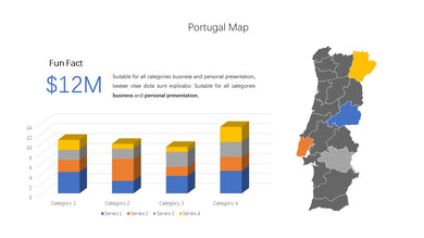 Portugal vector Map PowerPoint - PowerPointEasy