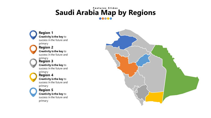 Saudi Arabia vector Map - PowerPointEasy
