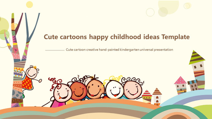 Cartoon Childhood PowerPoint template