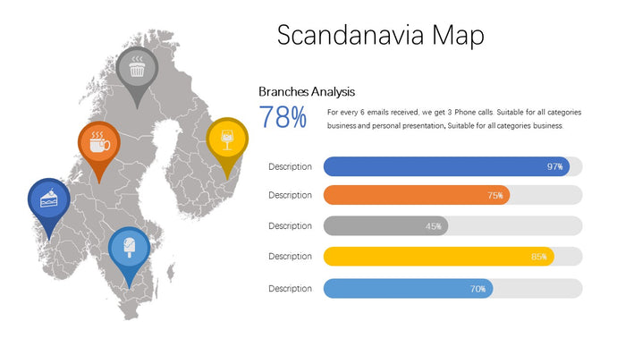 Scandanavia vector Map - PowerPointEasy