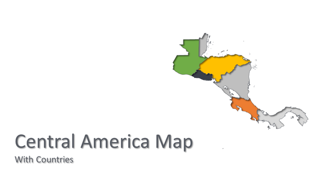 Central America vector map - PowerPointEasy