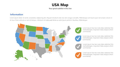 USA vector Map - PowerPointEasy