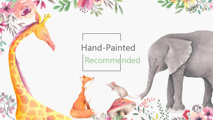 Hand-Painted Cartoon PowerPoint template