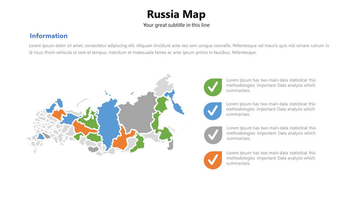 Russia vector Map Powerpoint - PowerPointEasy