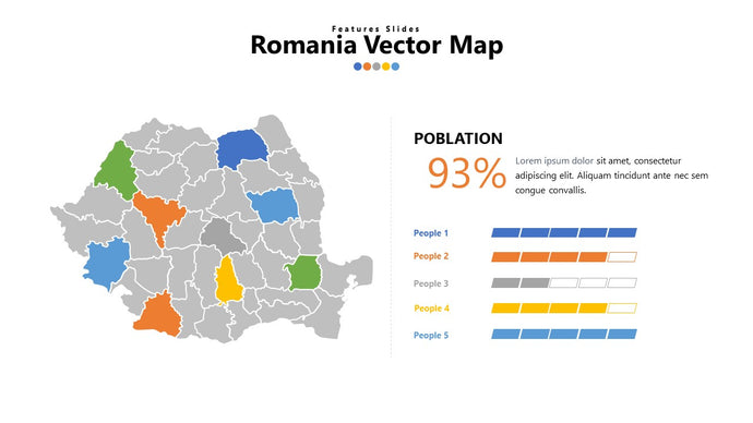 Romania vector Map PowerPoint - PowerPointEasy