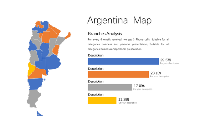 Argentina vector map Powerpoint - PowerPointEasy
