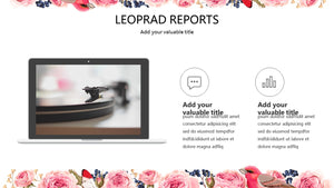 Flower and Bird PowerPoint Template