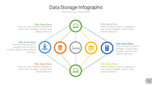 Data Storage Infographic Diagram PowerPoint template