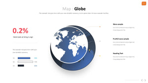 Globe vector Map Powerpoint - PowerPointEasy