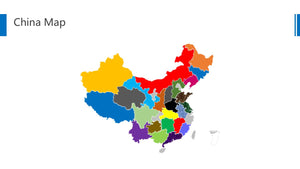 China vector map Powerpoint - PowerPointEasy