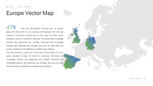 Europe vector map Powerpoint - PowerPointEasy