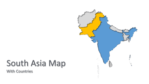 ASIA vector map Powerpoint - PowerPointEasy