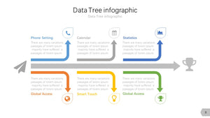Data Tree infographic Diagram PowerPoint template