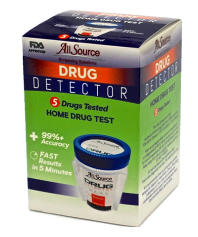 Drug Detectors - 5 Panel Drug Detector Urine Drug Test W/ FREE Lab Confirmation