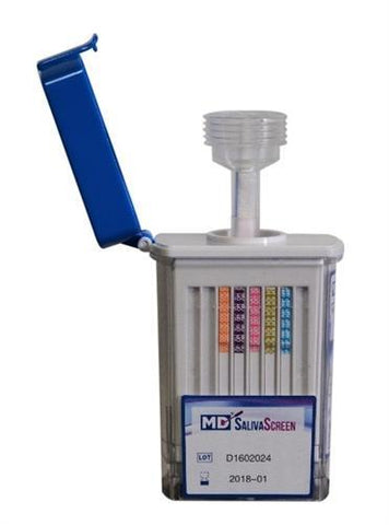 12 Panel Oral Saliva Screen Drug Test with Alcohol (MDS3125ALC)