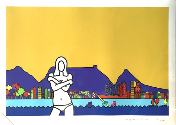 Richard Scott Print 'My Yellow Cape Town Ana'