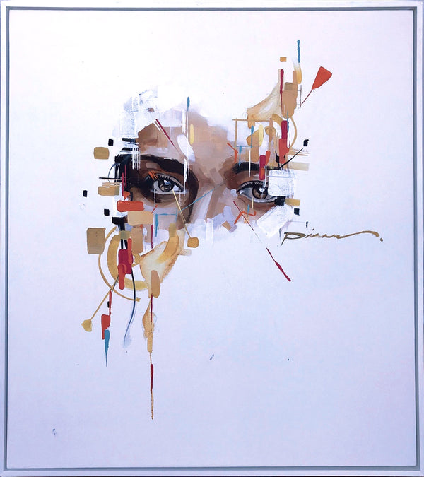 Pierre Issa Painting 'Top Half Face' 90 x 80 cm C
