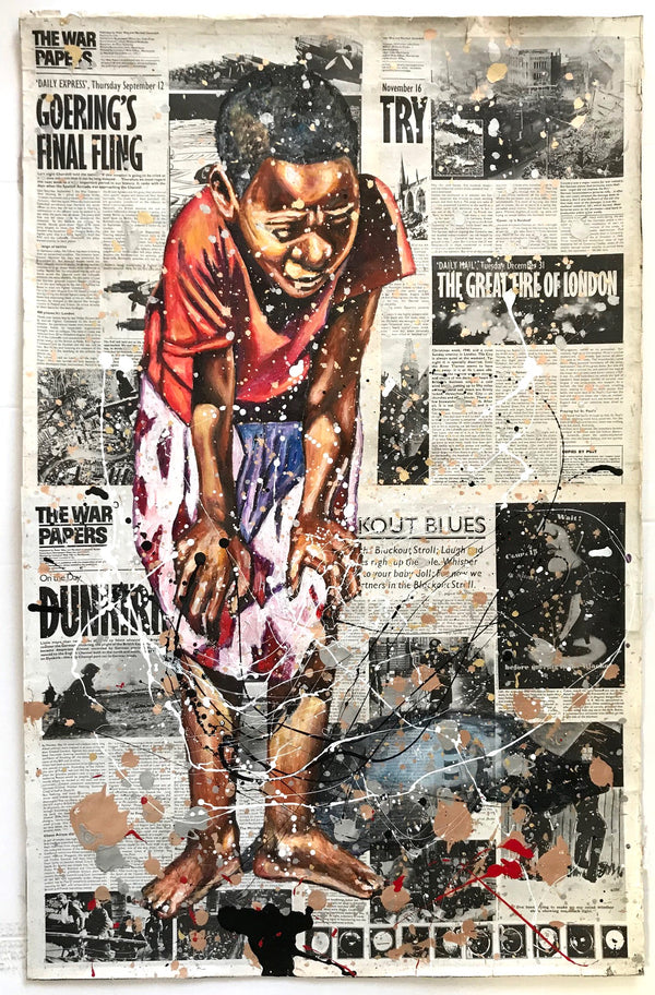 Andrew Ntshabele 'Think it over' 112x72cm