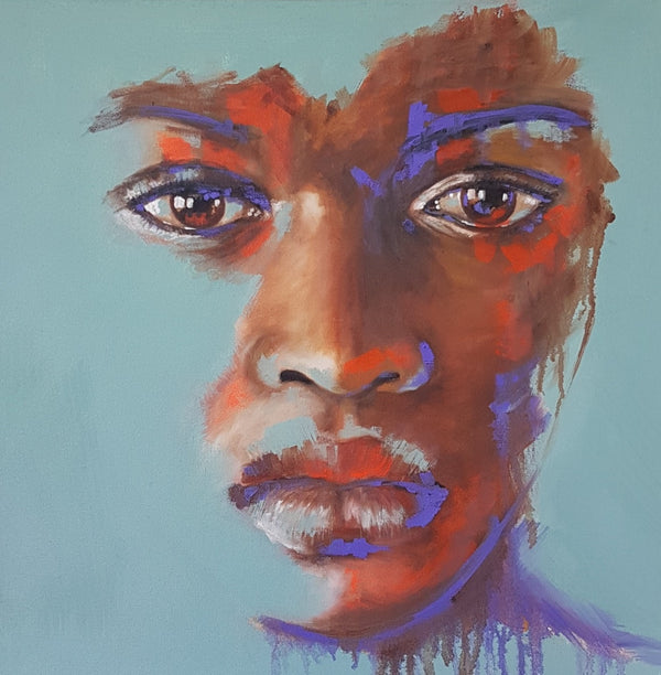Sara Gaga Painting 'I see you' 50 x 50 cm C