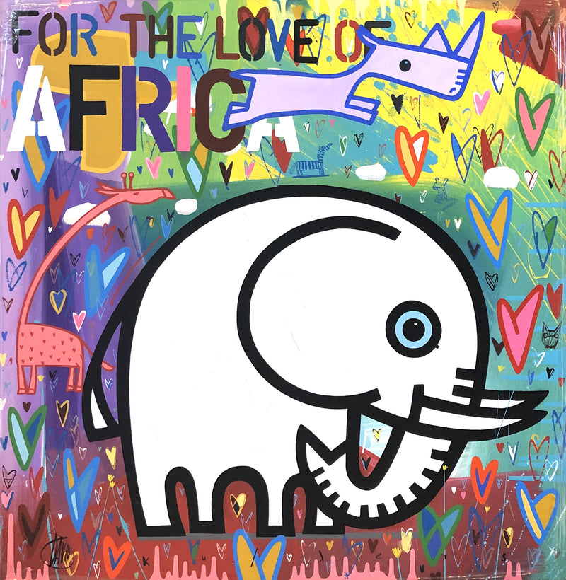 David Kuijers 'For the Love of Africa' 70 x 70 cm C