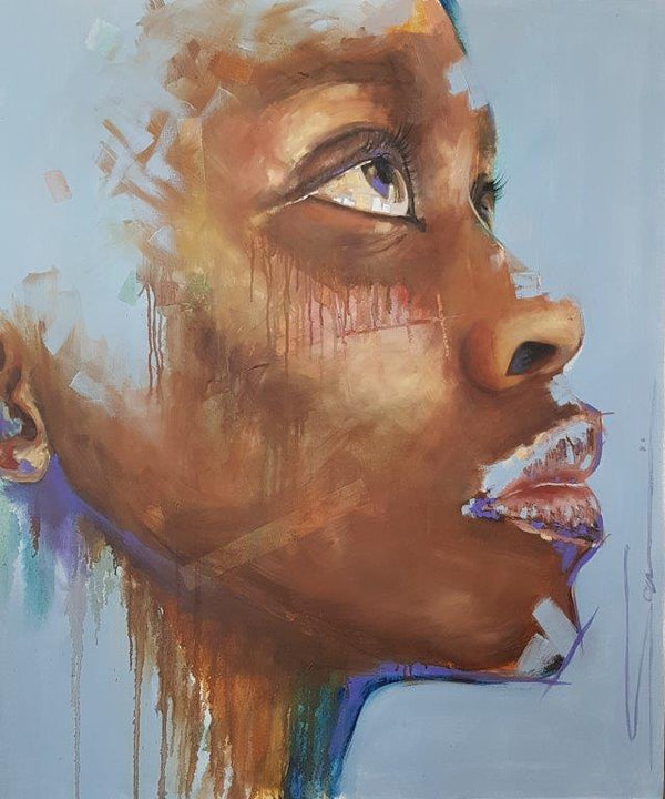 Sara Gaga Painting 'The Seeker II' 120 x 100 cm C