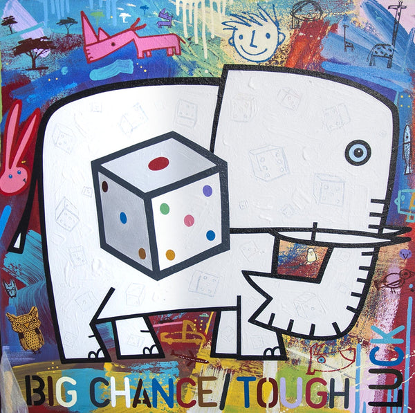 David Kuijers 'Big chance - Tough luck' 65 x 65 cm C