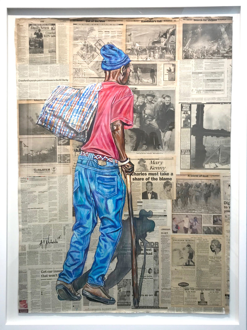 Andrew Ntshabele 'A journey through time' - framed