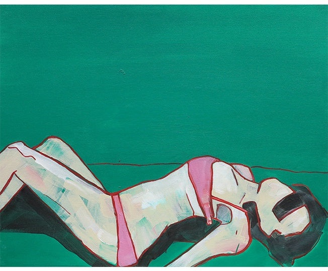 Michaela Rinaldi 'Girl in the Pink Bra I' 76 x 60 cm
