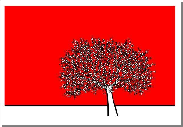 Richard Scott 'Red Tree' Art Print