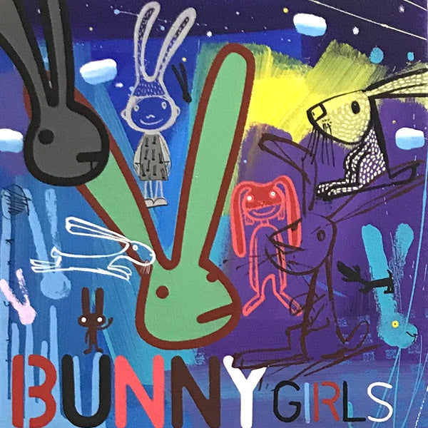 David Kuijers Painting 'Bunny Girls' 30 x 30 cm C