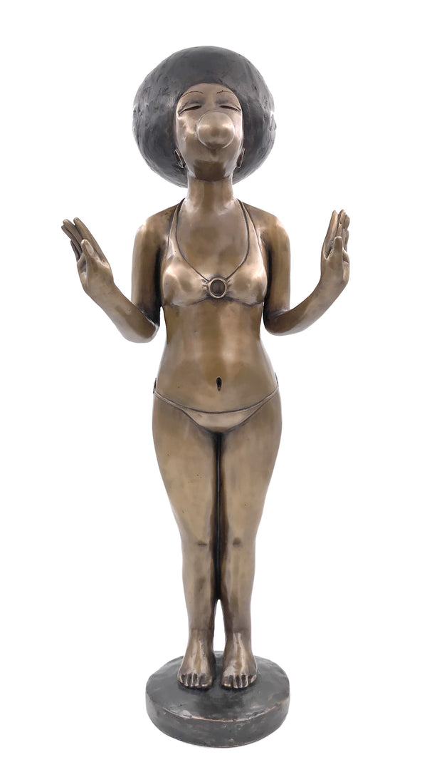 Maureen Visage Bronze Sculpture 'Umhle (beautiful) ' C