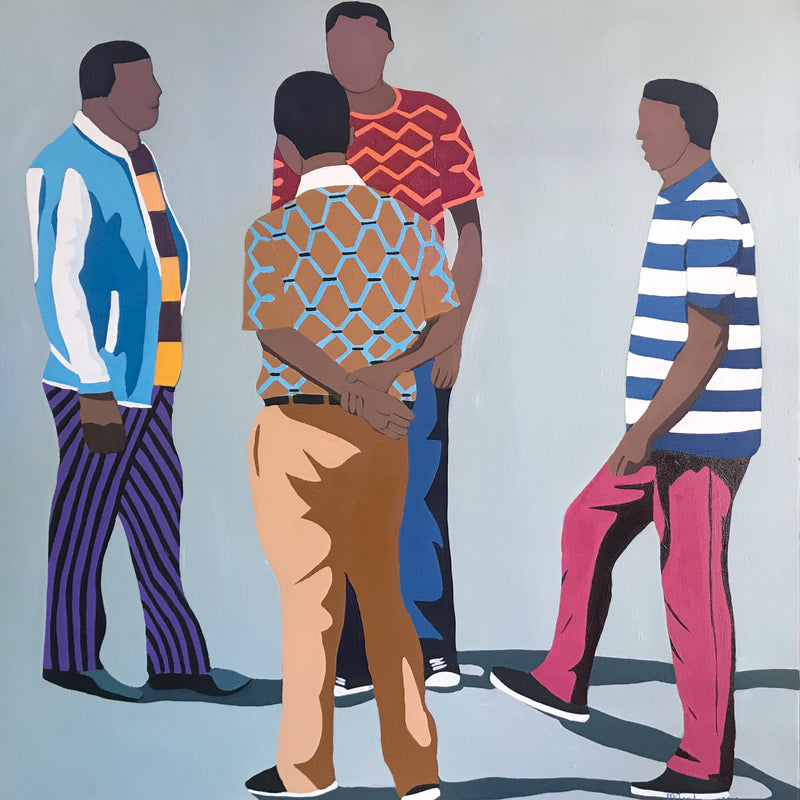 Shakes Tembani 'We are cool' 120 x 120 cm C
