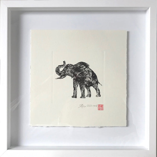 Shui-Lyn White Wildlife Monoprint Collection framed