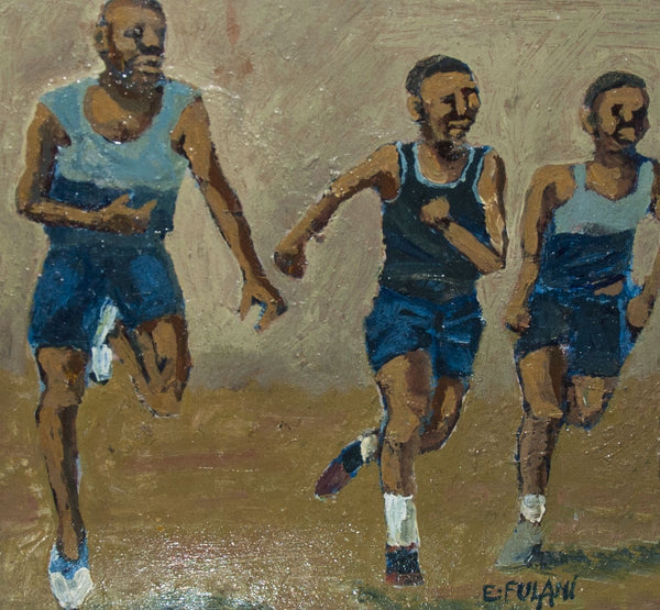 Ernest Fulani Painting 'Runners'