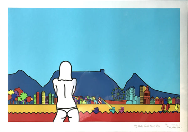 Richard Scott Print 'My Blue Cape Town Uma'