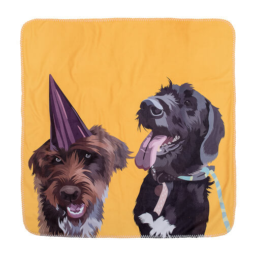 two dogs soft blanket